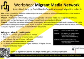Migrant Media Network-MMN Parcipants recruitement